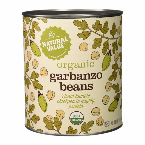 108-oz. Natural Value Food Service Size GARBANZO BEANS / 6-ct. case Perspective: front
