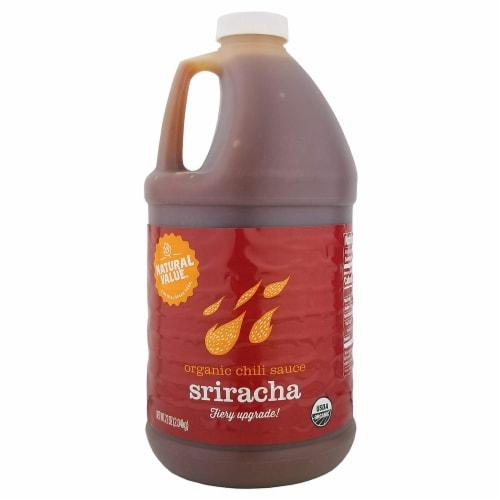 Natural Value Organic Sriracha Sauce / 72-oz. jugs / 6-ct. case Perspective: front