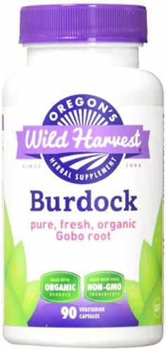 Oregon's Wild Harvest Burdock Herbal Supplement Capsules Perspective: front