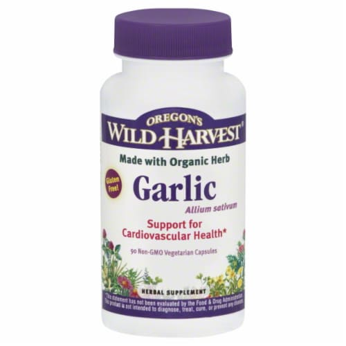 Oregon's Wild Harvest Garlic Capsules Perspective: front
