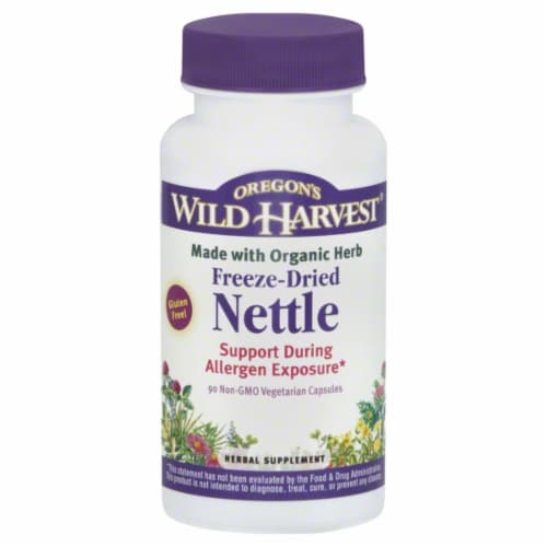 Oregon's Wild Harvest Freeze-Dried Nettle Vegetarian Capsules Perspective: front