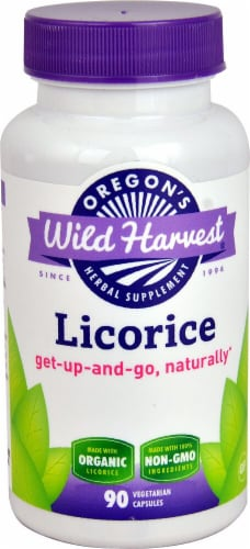 Oregon's Wild Harvest Organic Licorice Capsules Perspective: front