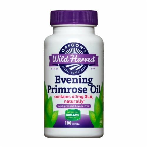 Oregon's Wild Harvest Evening Primrose Oil Softgels 40mg Perspective: front