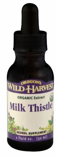 Oregon's Wild Harvest Milk Thistle Organic Extract Herbal Supplement Perspective: front