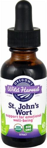 Oregon's Wild Harvest Organic St. John's Wort Extract Herbal Supplement Perspective: front