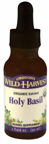 Oregon's Wild Harvest Organic Holy Basil Extract Perspective: front