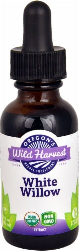Oregon's Wild Harvest Organic White Willow Extract Herbal Supplement Perspective: front