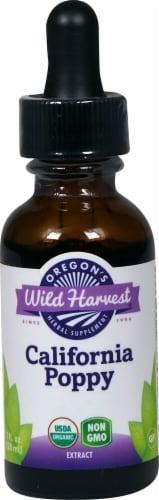 Oregon's Wild Harvest Organic California Poppy Extract Herbal Supplement Perspective: front