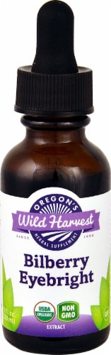 Oregon's Wild Harvest Organic Bilberry Eyebright Extract Perspective: front