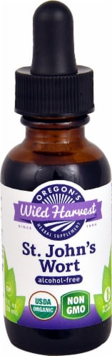 Oregon's Wild Harvest Organic St. John's Wort Alcohol-Free Extract Perspective: front