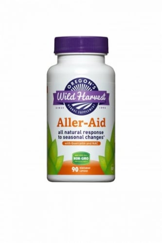 Oregon's Wild Harvest Aller-Aid Supplement Capsules Perspective: front