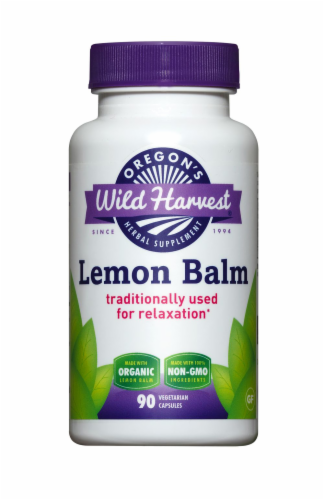 Oregon's Wild Harvest Lemon Balm Vegetarian Capsules Perspective: front