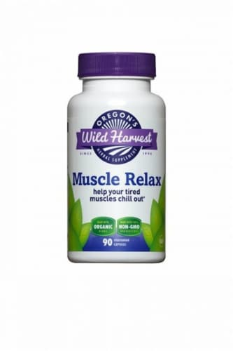 Oregon's Wild Harvest Muscle Relax Vegetarian Capsules Perspective: front