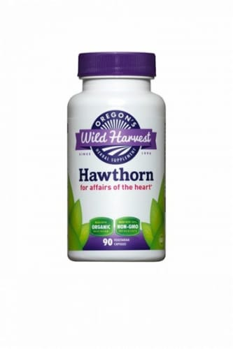Oregon's Wild Harvest Hawthorn Heart Support Capsules Perspective: front