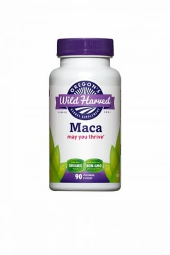 Oregon's Wild Harvest Organic Maca Supplement Capsules Perspective: front