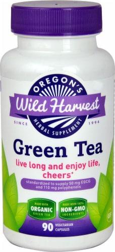 Oregon's Wild Harvest Organic Green Tea Herbal Supplement Vegetarian Capsules Perspective: front