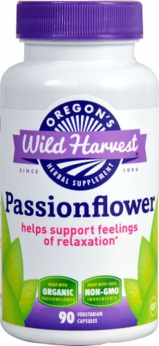 Oregons Wild Harvest Passion Flower Vegetarian Capsules Perspective: front