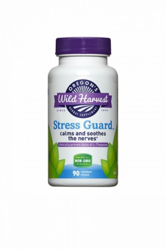 Oregon's Wild Harvest Organic Stress Guard Capsules Perspective: front