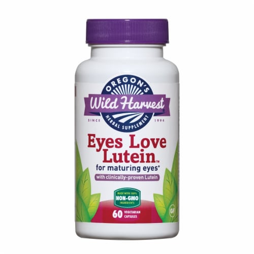 Oregon's Wild Harvest Eyes Love Lutein Herbal Supplement Vegetarian Capsules Perspective: front
