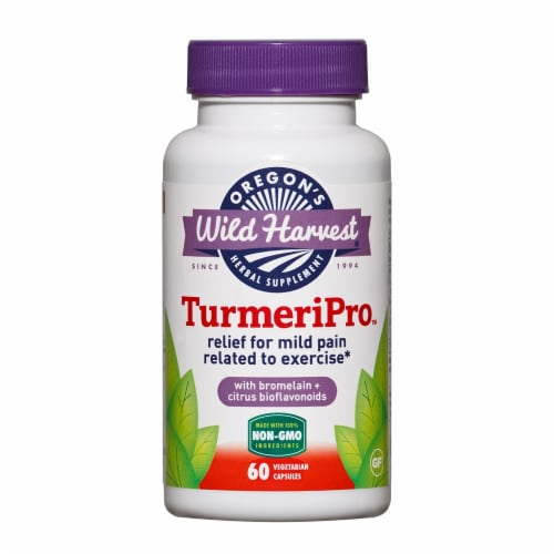 Oregon's Wild Harvest TurmeriPro Vegetarian Capsules Perspective: front
