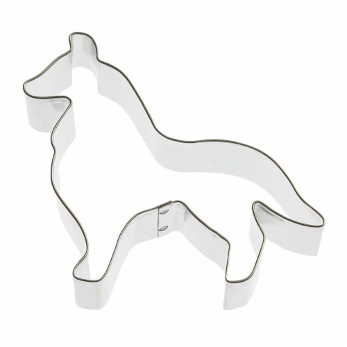 Collie Dog Cookie Cutter 4.75 in B833 Perspective: front