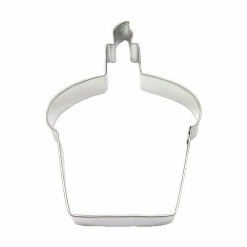 Cupcake Cookie Cutter 4 in B1338 Perspective: front