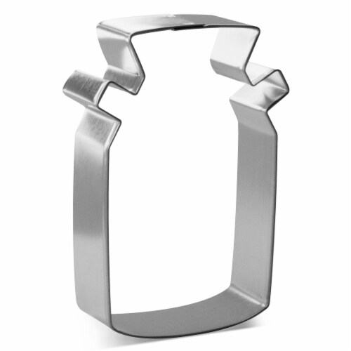 Farmhouse Milk Can Cookie Cutter 3.75 in B1898 Perspective: front