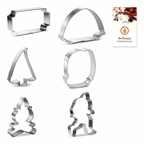 Woodland Forest Camping Cookie Cutter 6 Pc Set HS0459 Perspective: front