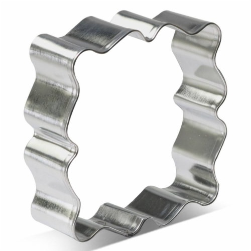 Fancy Square Plaque Cookie Cutter 3.75 in B1603 Perspective: front