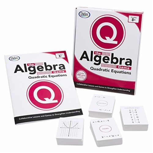 Didax-211754 The Algebra Game Quadratic Equations & Basic Perspective: front