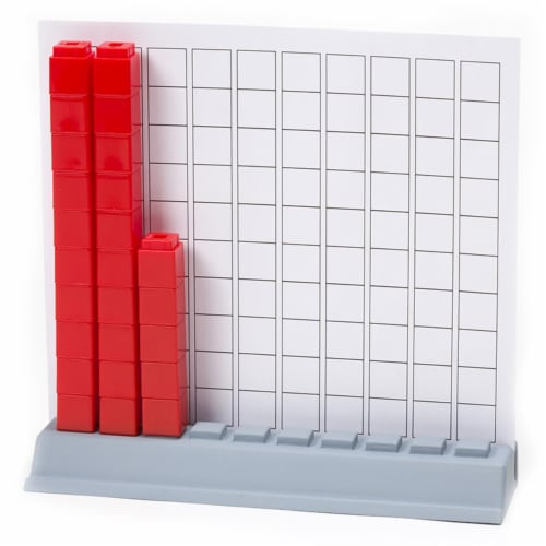 Didax DD-211771 Unifix Cubes Hundred Base Perspective: front