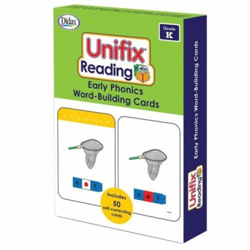 Didax DD-211412 Unifix Word Building Cards Grade K Perspective: front
