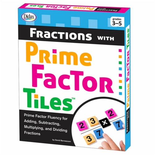 Didax DD-211282 Fractions with Prime Factor Tiles Perspective: front