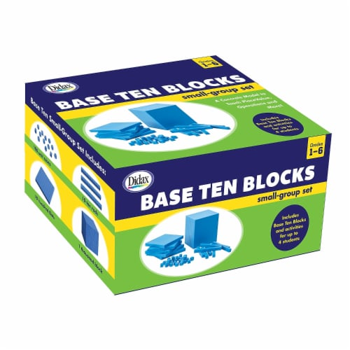 Didax DD-211738 Base Ten Blocks Small Group Set Perspective: front