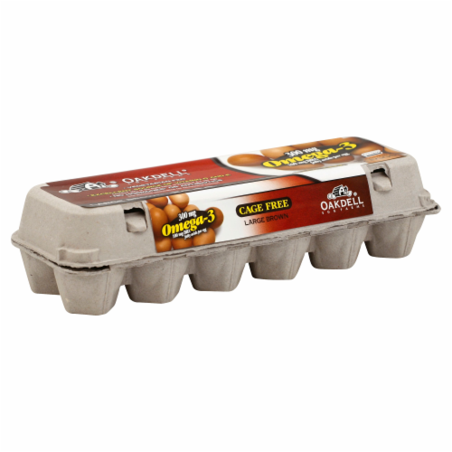 Oakdell Egg Farms Omega-3 Cage Free Grade AA Large Brown Eggs Perspective: front
