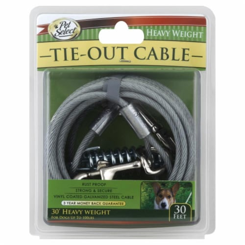 Pet Select Tie-Out Cable Perspective: front