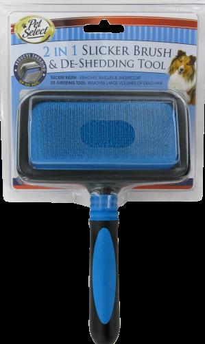 Pet Select 2 in 1 Slicker Brush & De-Shedding Tool Perspective: front
