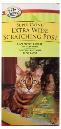 Pet Select Super Catnip Extra Wide Scratching Post Perspective: front