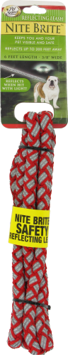 Pet Select Red Nite Reflective Leash Perspective: front