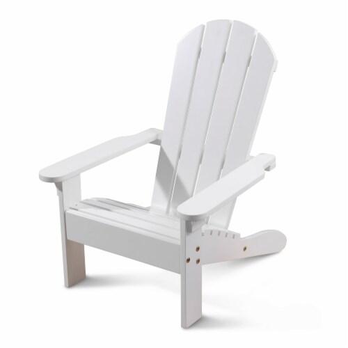 KidKraft Children's Adirondack Chair - White Perspective: front