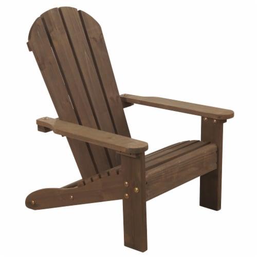 KidKraft Children's Adirondack Chair - Espresso Perspective: front