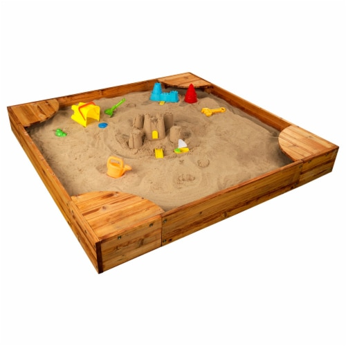 KidKraft Backyard Children's Sandbox - Honey Perspective: front