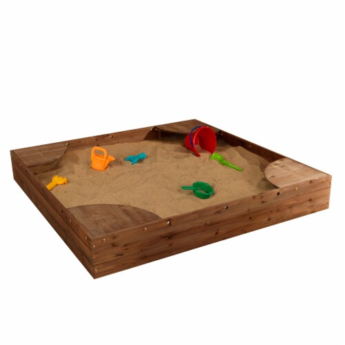KidKraft Backyard Children's Sandbox - Espresso Perspective: front