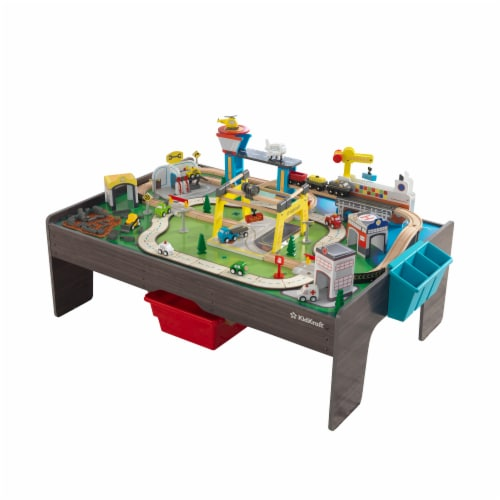 KidKraft My Own City Vehicle and Activity Table with with EZ Kraft Assembly™ Perspective: front