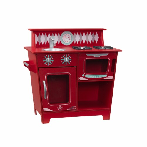 KidKraft Classic Kitchenette - Red Perspective: front
