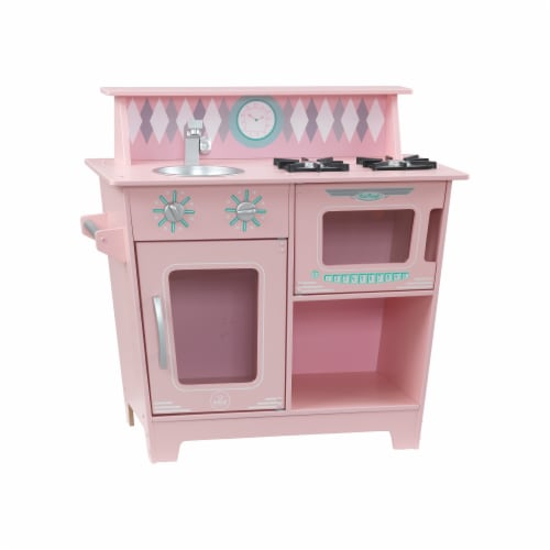 KidKraft Classic Kitchenette - Pink Perspective: front