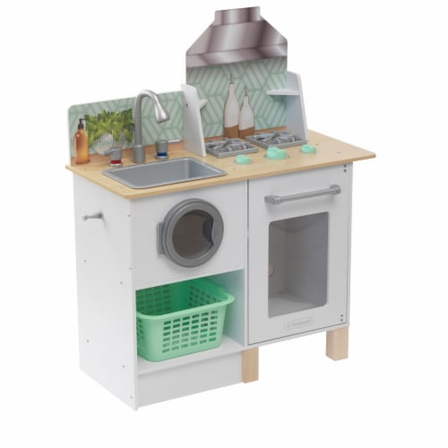 KidKraft Whisk & Wash Kitchen & Laundry Perspective: front