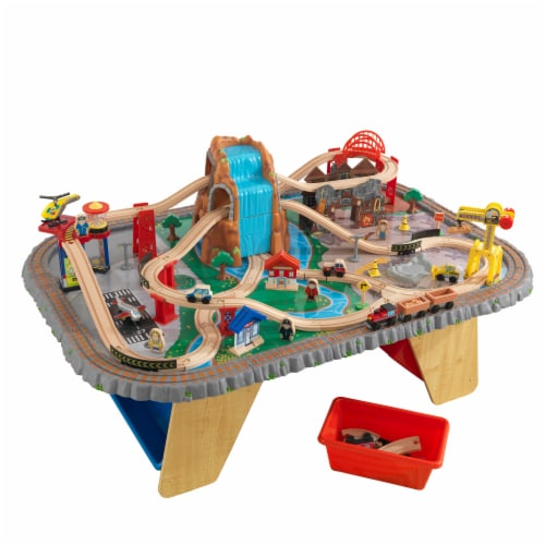 KidKraft Waterfall Junction Train Set & Table Perspective: front