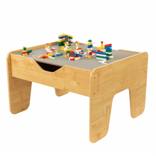 KidKraft Activity Table with Board - Gray & Natural Perspective: front