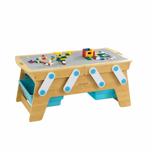 KidKraft Building Bricks Play N Store Table Perspective: front